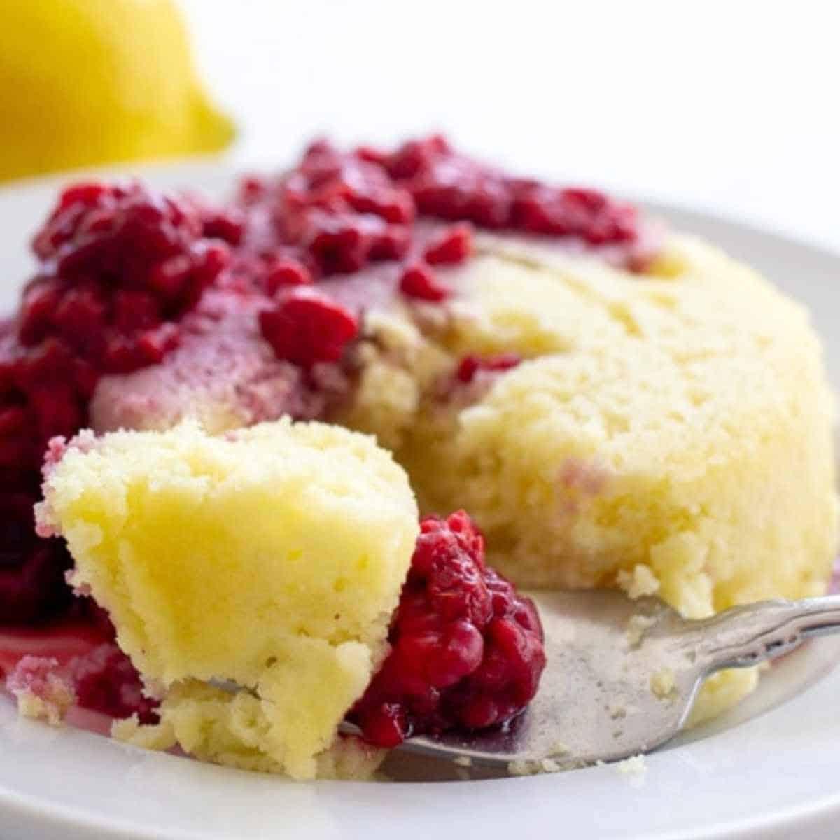 keto lemon mug cake - Keto Coconut Flour Recipes: Desserts to Dinners