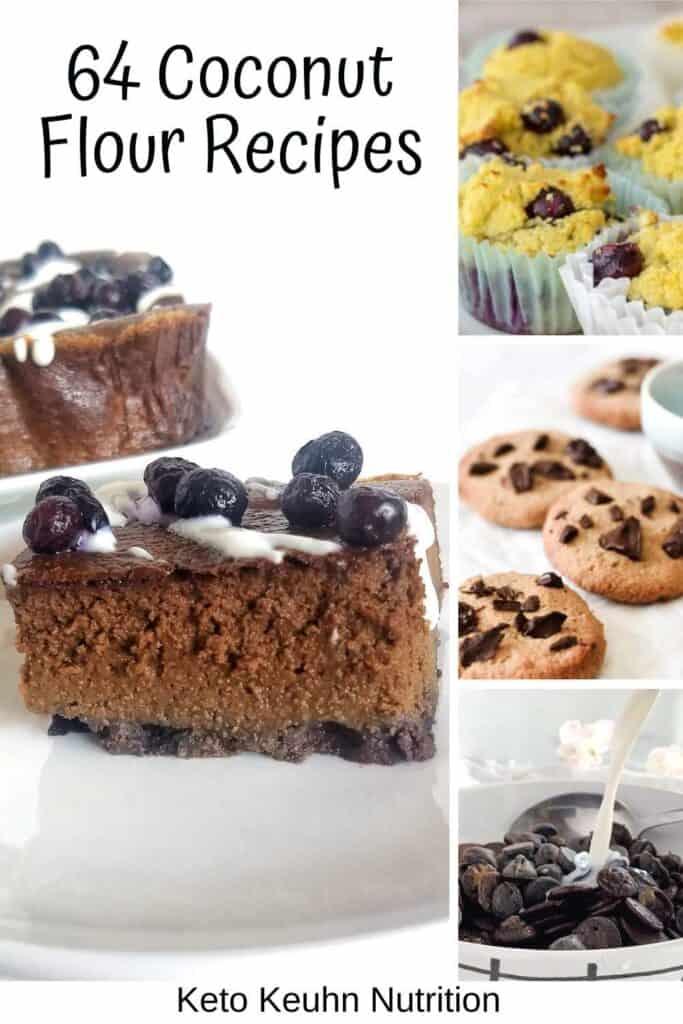 pin for coconut flour recipes 683x1024 - Keto Coconut Flour Recipes: Desserts to Dinners