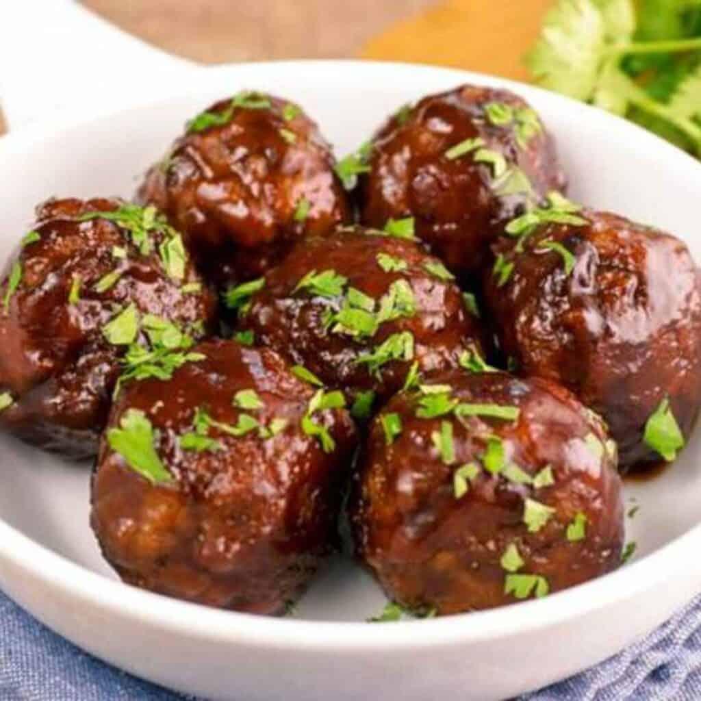 keto cranberry meatballs 1024x1024 - 54 Keto Ground Beef Recipes