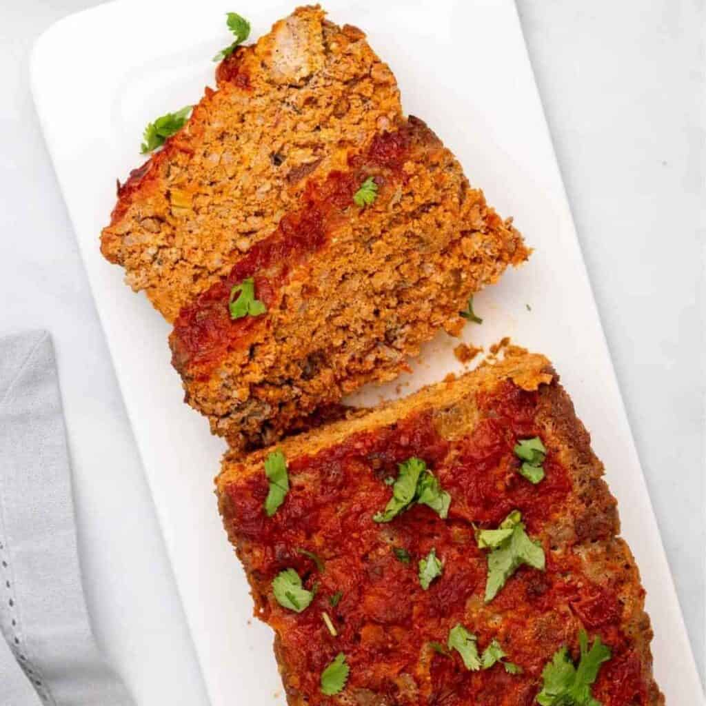 keto meatloaf 1024x1024 - 54 Keto Ground Beef Recipes