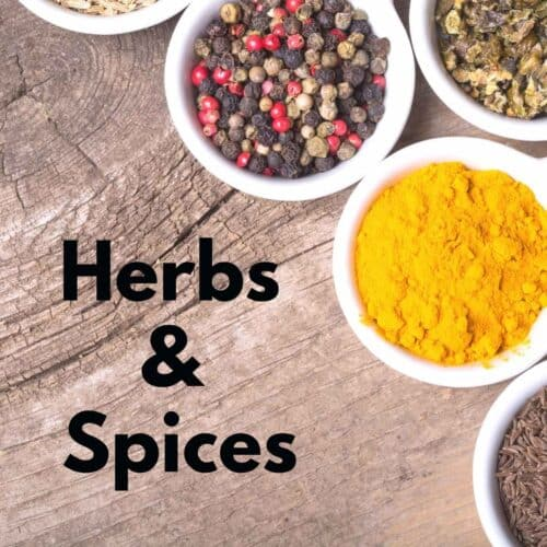 featured image for herbs and spices 500x500 - Recipes Under 10 Total Carbs
