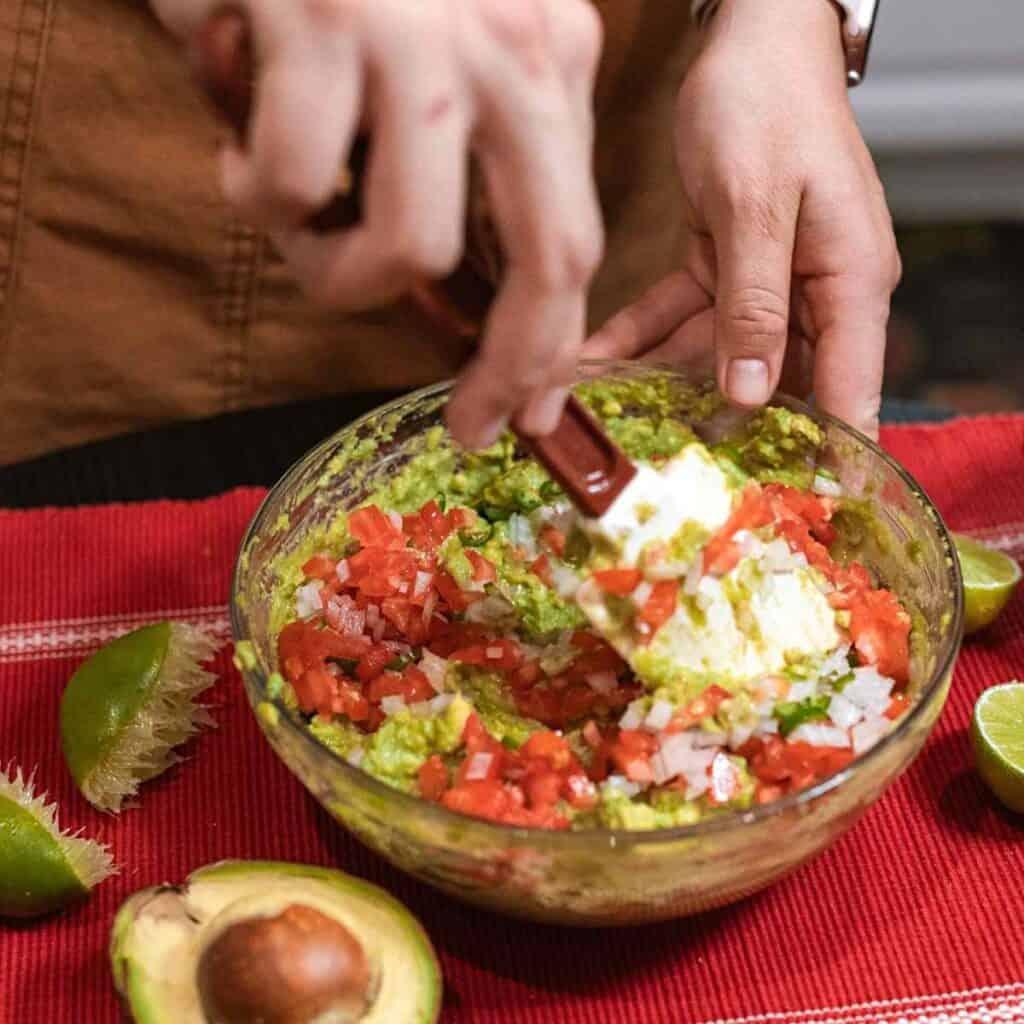 making keto quacamole 1024x1024 - 22 Things You Can Dip In Guacamole On The Keto Diet