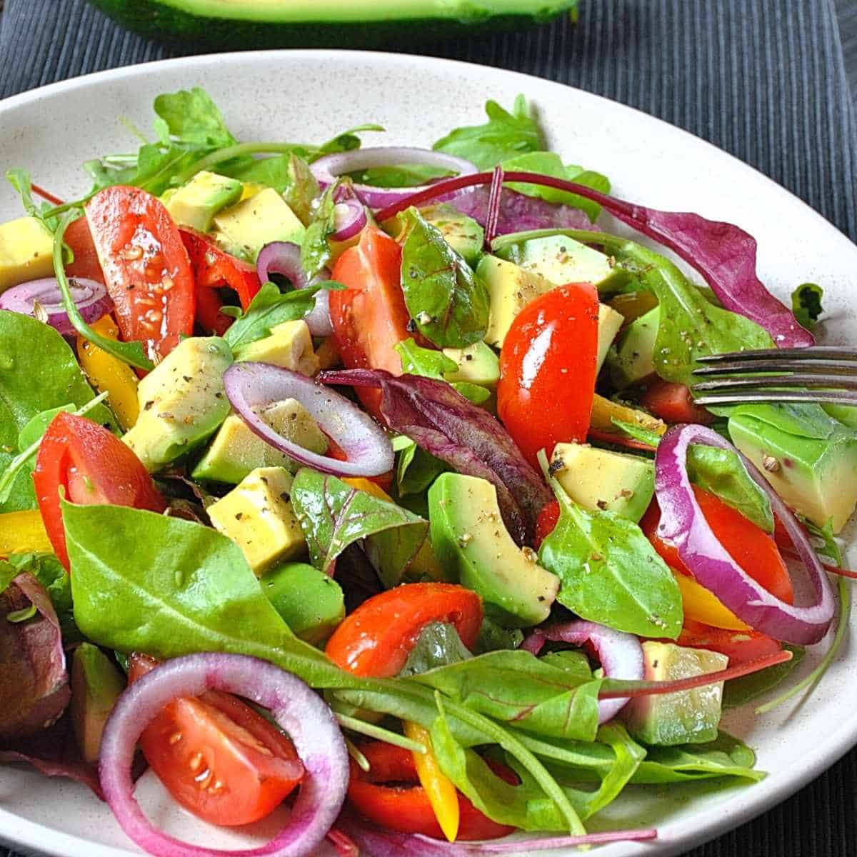 spinach avocado salad - How to Fix Whole Body Aches on Keto: Advice from a Nutritionist