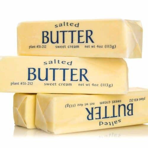 sticks of butter 500x500 - Recipes Under 10 Total Carbs
