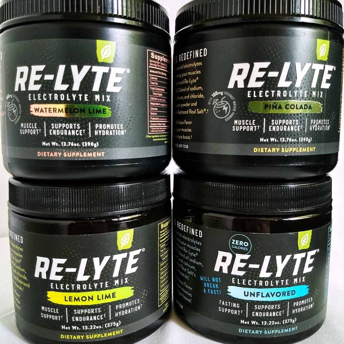 4 jars of relyte electrolyte drink mix - Re-Lyte Electrolyte Drink Mix: Review