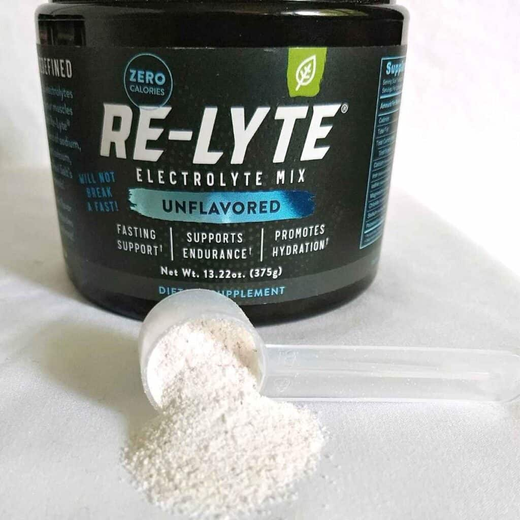 unflavored relyte mix w scoop 1024x1024 - Re-Lyte Electrolyte Drink Mix: Review