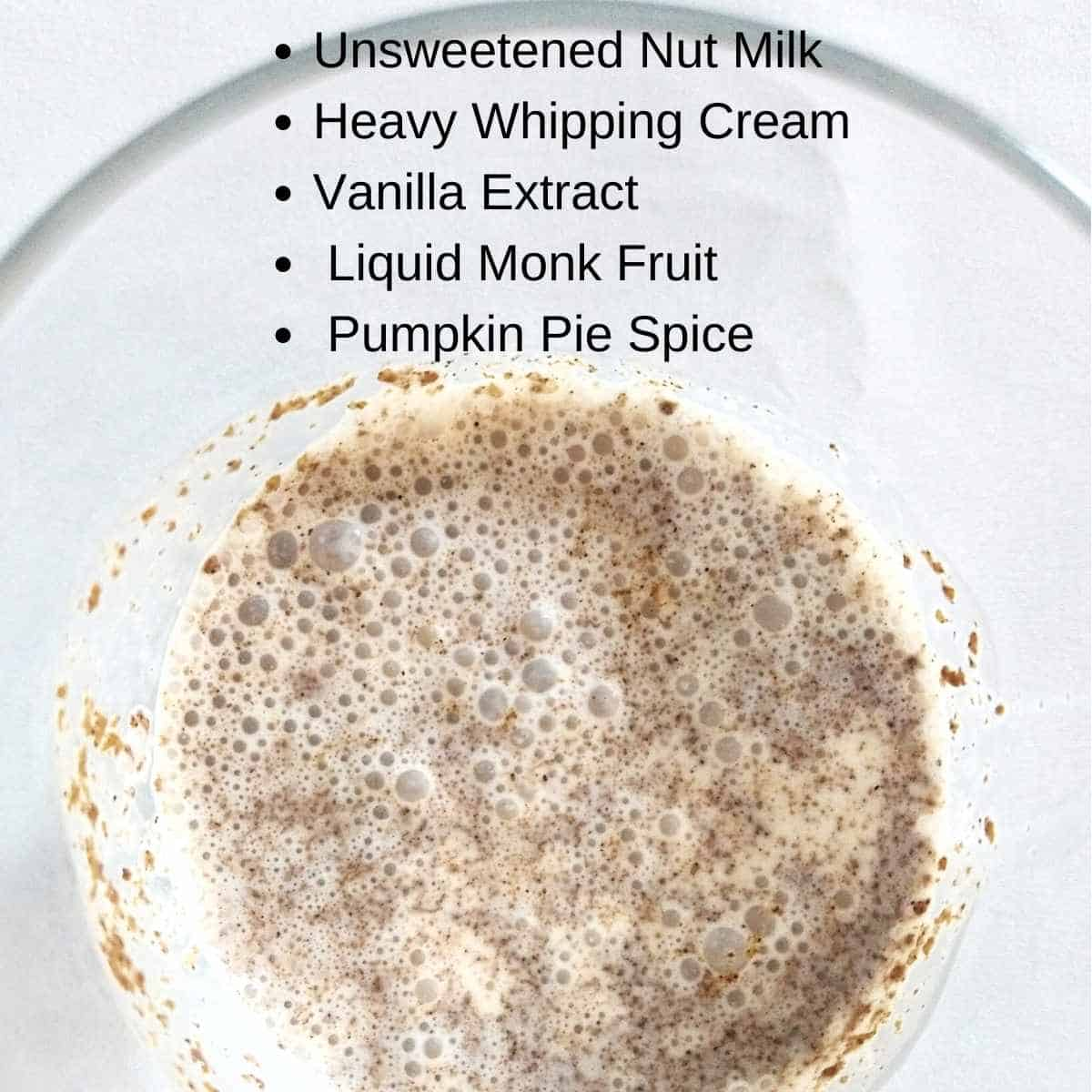 ingredients for pumpkin cold foam - Keto Pumpkin Cold Foam: Info from a former Starbuck's Barista