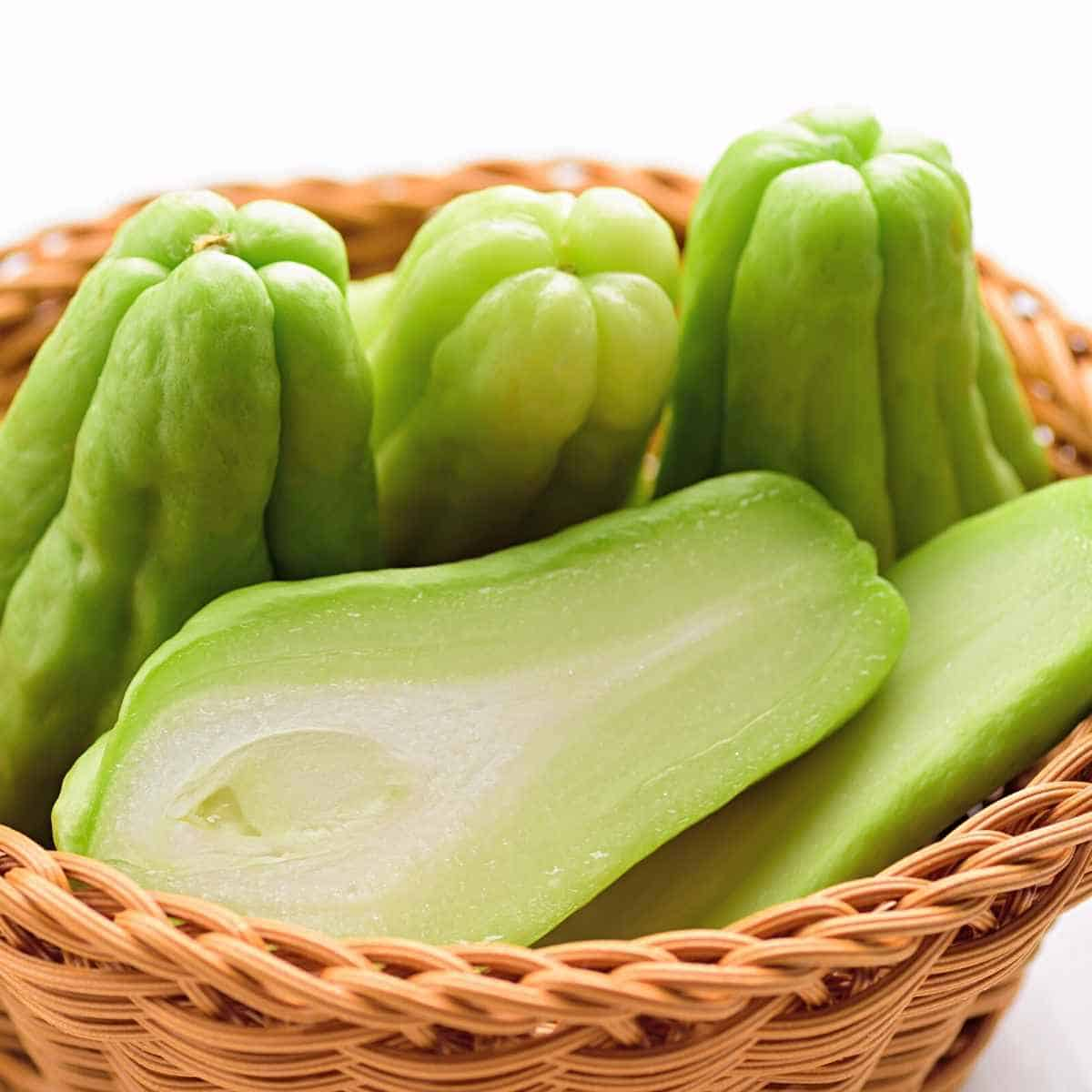 Chayote in basket - Are Apples Keto Friendly? | Total Carbs | Alternatives
