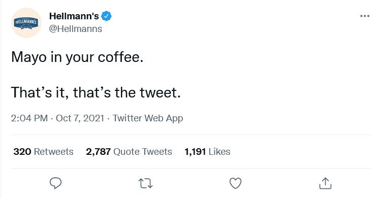 Hellmanns on Twitter - Coffee Mayonnaise Recipe