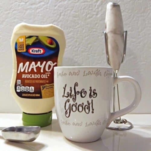 ingredients for mayo coffee 500x500 - Keto Pina Colada